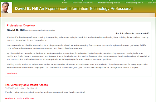 DavidBHill.Info website